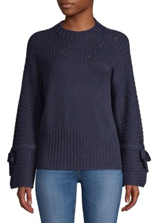 Saks Fifth Avenue Ribbed Bell-Sleeve Crewneck Sweater