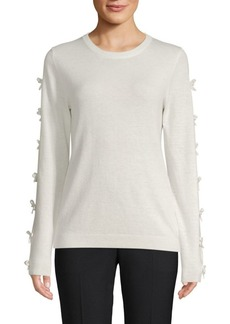 Saks Fifth Avenue Ribbed Bow-Sleeve Sweater