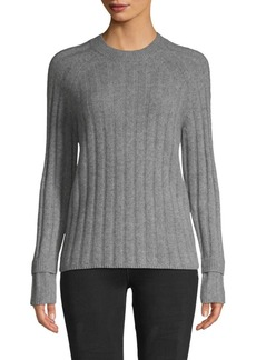 Saks Fifth Avenue Ribbed Raglan-Sleeve Cashmere Sweater