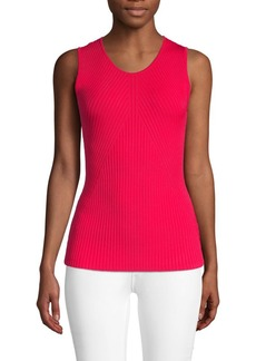 Saks Fifth Avenue Ribbed Sleeveless Shell Top