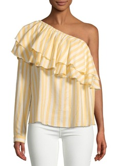 Saks Fifth Avenue Richelle One-Shoulder Cotton Top