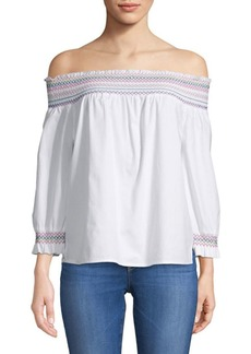 Saks Fifth Avenue Rosemary Off-the-Shoulder Cotton Top