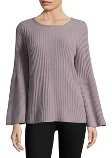 Saks Fifth Avenue Roundneck Bell-Sleeve Cashmere Sweater
