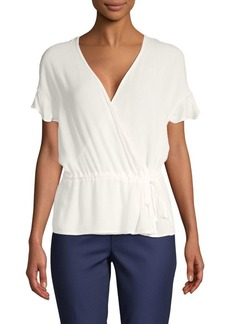 Saks Fifth Avenue Ruffle-Sleeve Wrap Top