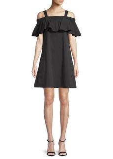 Ruffle Tank Cold-Shoulder Dress