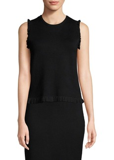 Saks Fifth Avenue Ruffle-Trimmed Tank Top