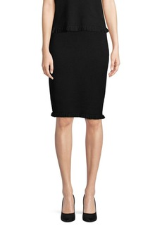 Saks Fifth Avenue Ruffled Hem Pull-On Skirt