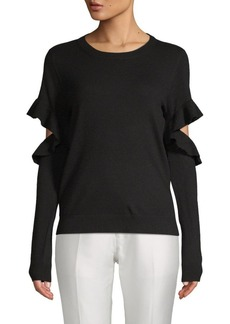 Saks Fifth Avenue Ruffled Long-Sleeve Sweater