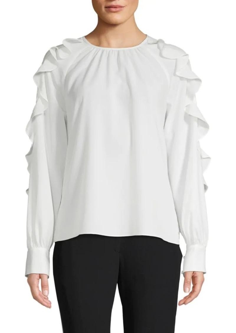 Saks Fifth Avenue Ruffled Raglan-Sleeve Blouse