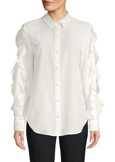Saks Fifth Avenue Ruffled Sleeve Button-Down Shirt