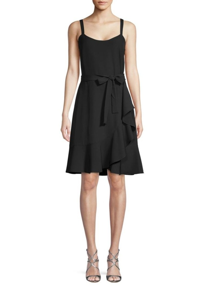 Saks Fifth Avenue Ruffled Tie Wrap Dress