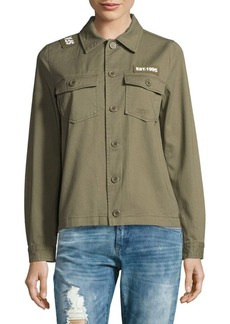 Saks Fifth Avenue 2-Pocket Button Front Cotton Jacket