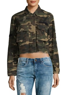 Saks Fifth Avenue 2-Pocket Camo Cotton Short Jacket