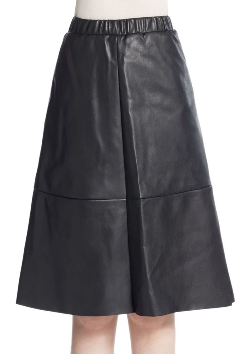 Saks Fifth Avenue A-Line Faux Leather Skirt