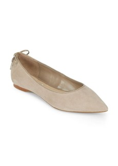 Saks Fifth Avenue Almond Toe Flats