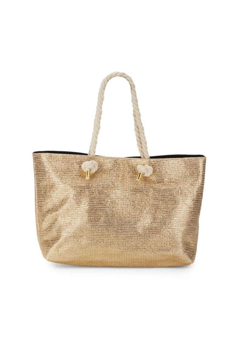 Saks Fifth Avenue Angled Shape Tote Bag