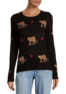 Saks Fifth Avenue Animal Knit Sweater