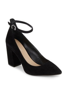 Saks Fifth Avenue Ankle Strap Point Toe Heels