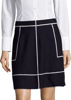 Saks Fifth Avenue BLACK Banded-Waist Skirt