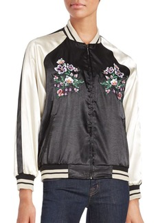 Saks Fifth Avenue Baseball Collar Jacket
