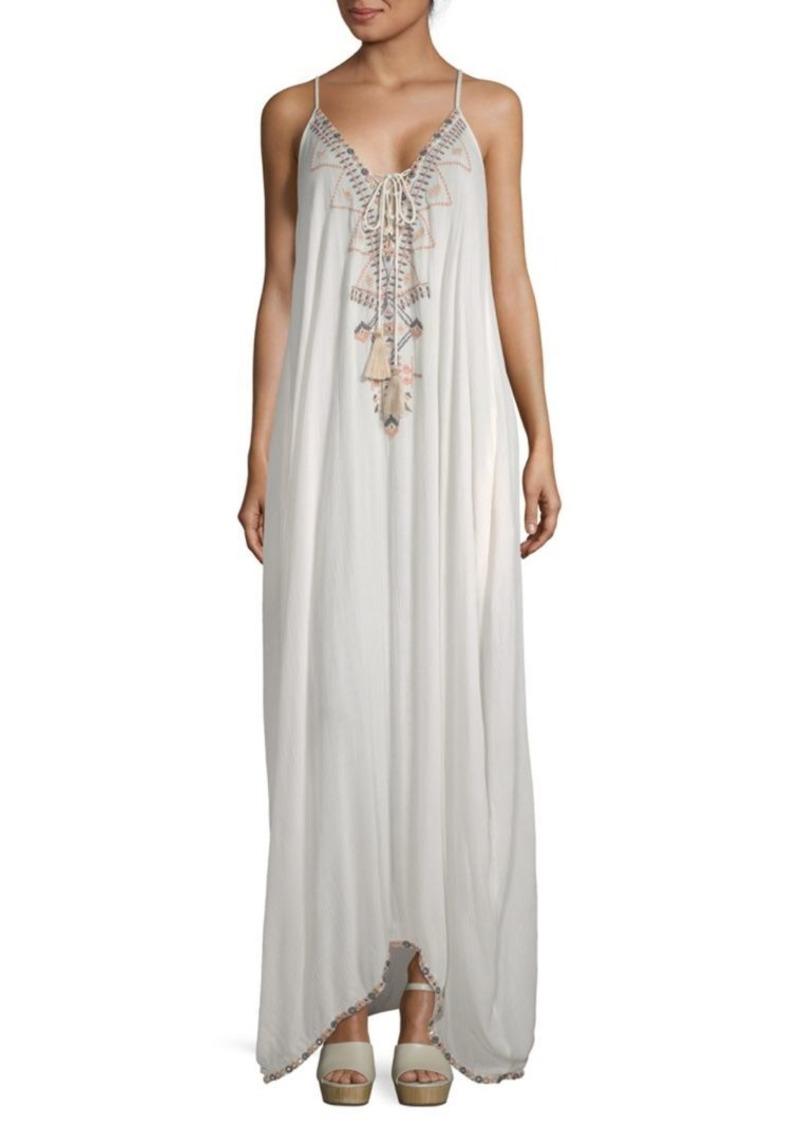 Saks Fifth Avenue Beaded Maxi Peasant Dress   Dresses - Shop It To Me