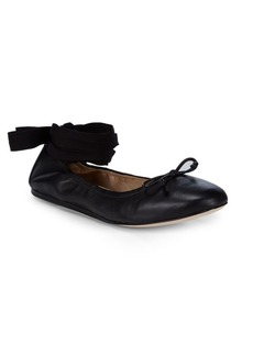Saks Fifth Avenue Beau Leather Ballet Flats