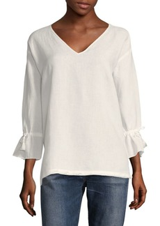Saks Fifth Avenue Bell-Sleeve Linen Tunic