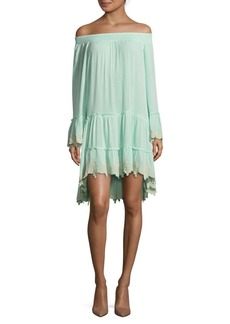 Saks Fifth Avenue Bell Sleeve Off-the-Shoulder Dress