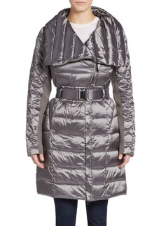 Saks Fifth Avenue Packable Belted Nylon Coat
