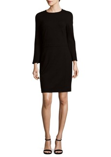 Saks Fifth Avenue BLACK Bell Sleeve Ponte Dress