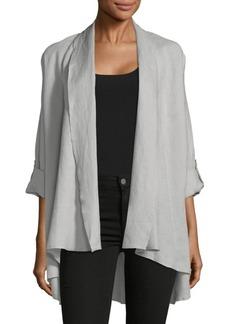 Saks Fifth Avenue Crinkle Drape-Front Jacket