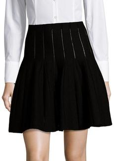Saks Fifth Avenue BLACK Cutout Detail Pleated Skirt
