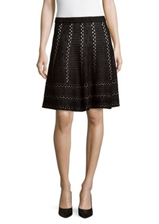 Saks Fifth Avenue BLACK Flare Mini Skirt