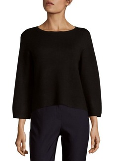 Saks Fifth Avenue BLACK Flare Sleeve Top