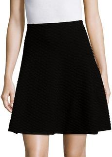 Saks Fifth Avenue BLACK Honeycomb-Knit A-Line Skirt