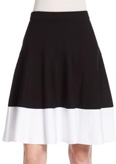 Saks Fifth Avenue BLACK Knit Swing Skirt