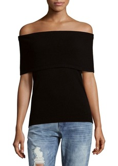 Saks Fifth Avenue Knitted Off-The-Shoulder Top