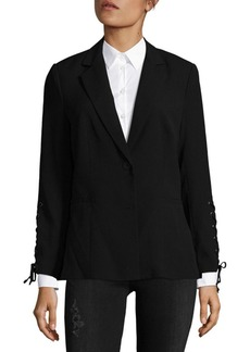 Saks Fifth Avenue BLACK Lace-Up Blazer
