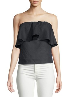 Saks Fifth Avenue Linen Strapless Top