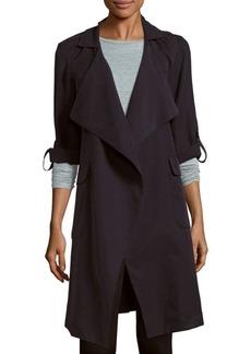 Saks Fifth Avenue BLACK Long-Sleeve Tie-Waist Coat