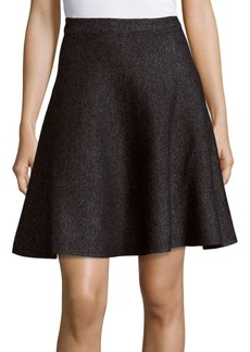Saks Fifth Avenue BLACK Marled Flared Skirt