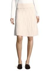 Saks Fifth Avenue Patterned Knit A-Line Skirt