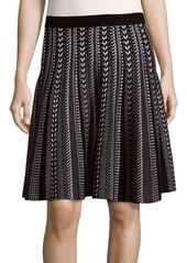 Saks Fifth Avenue BLACK Patterned Knit Skirt