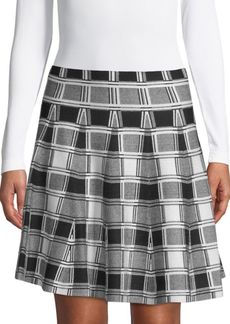 Saks Fifth Avenue BLACK Plaid Mini Skirt