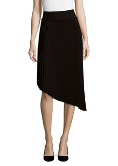 Saks Fifth Avenue BLACK Pleated Asymmetrical Skirt