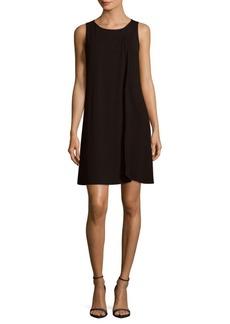 Saks Fifth Avenue BLACK Pleated Shift Dress