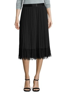 Saks Fifth Avenue BLACK Pleated Skirt