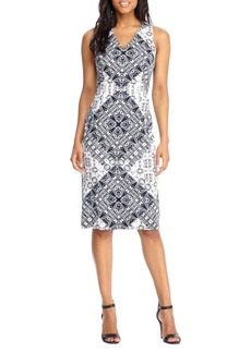 Saks Fifth Avenue BLACK Printed Sleeveless Dress