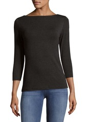 Saks Fifth Avenue Pullover Boatneck Top