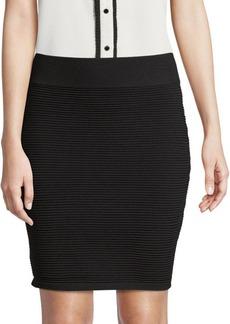 Saks Fifth Avenue Ribbed Mini Skirt